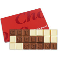 Chocoladetelegram 21 get well soon