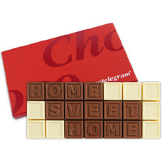 Chocoladetelegram 21 home sweet home